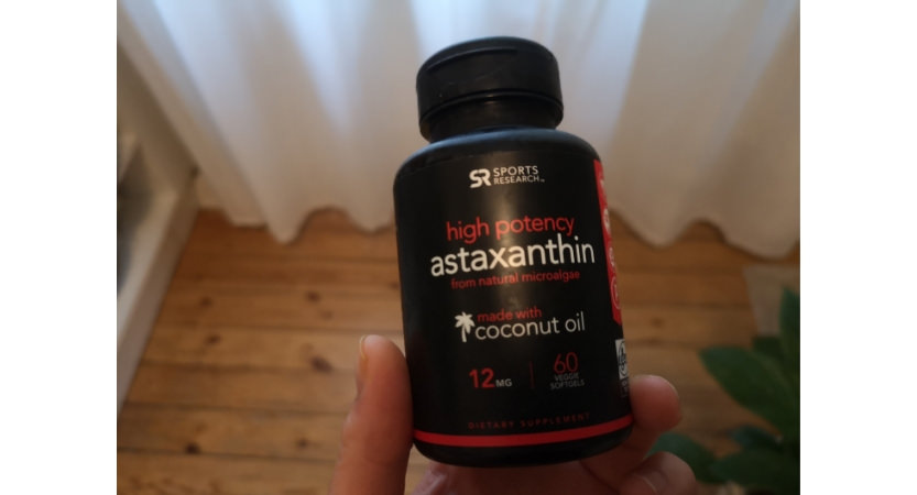 Supplement with astaxanthin from Sport research.