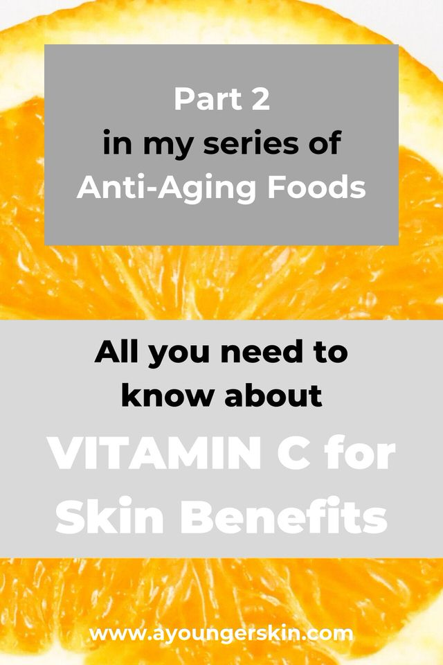All you need to know about Vitamin-C for skin benefits and anti-aging. #antiagingfoods #antiagingsupplements #antiagingserum