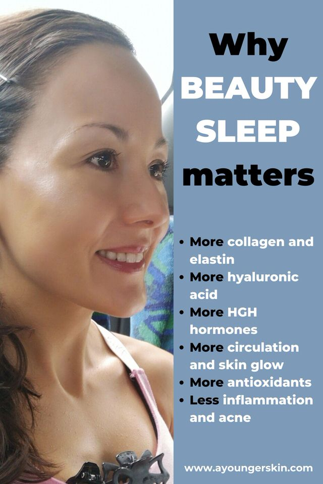Does sleep make you look younger? This article explains why beauty sleep matters for a younger looking skin.
