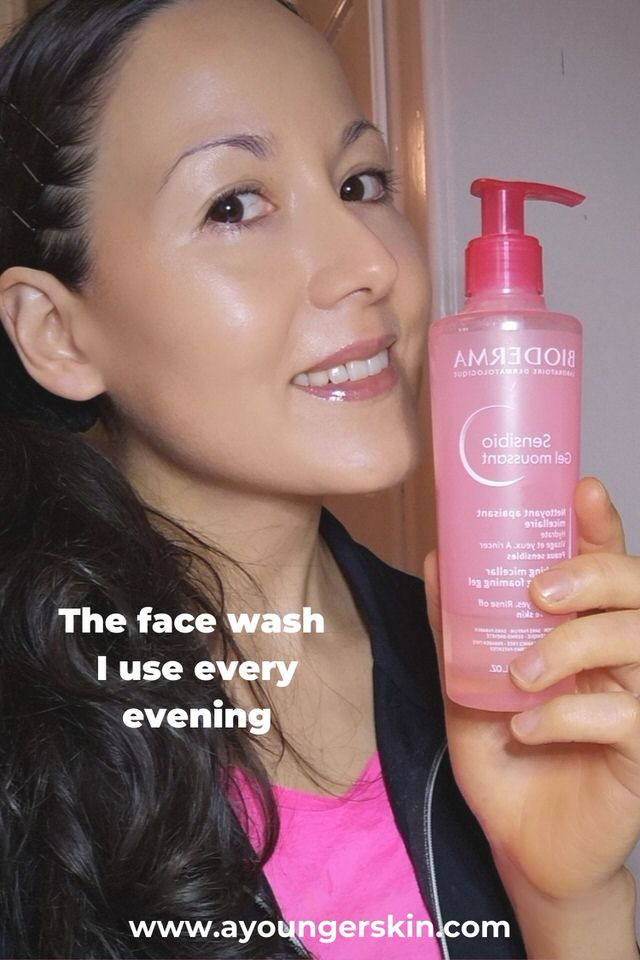 Biodermas face wash that I use every evening