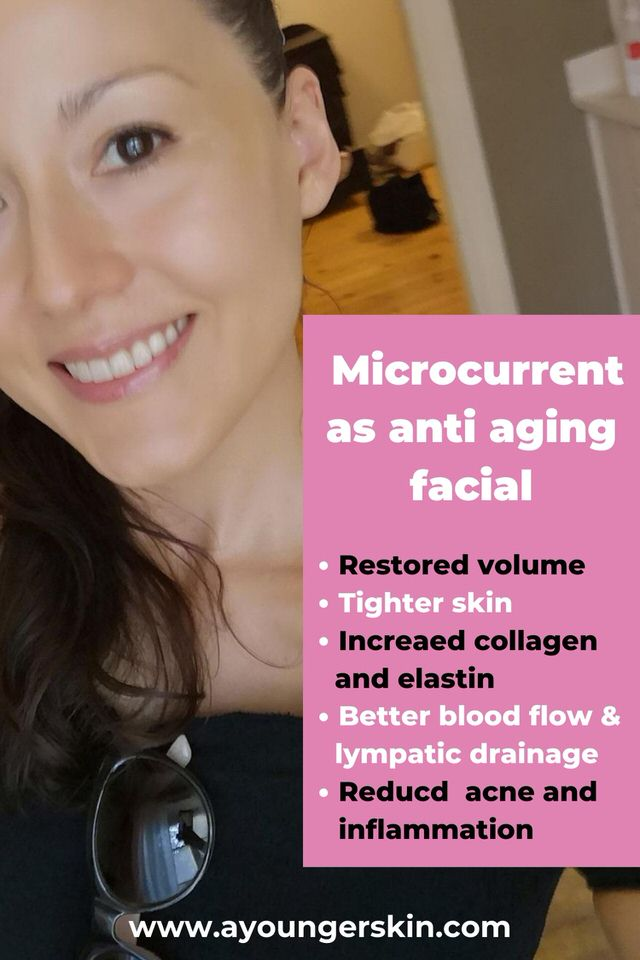 Microcurrent therapy benefits as anti aging facial