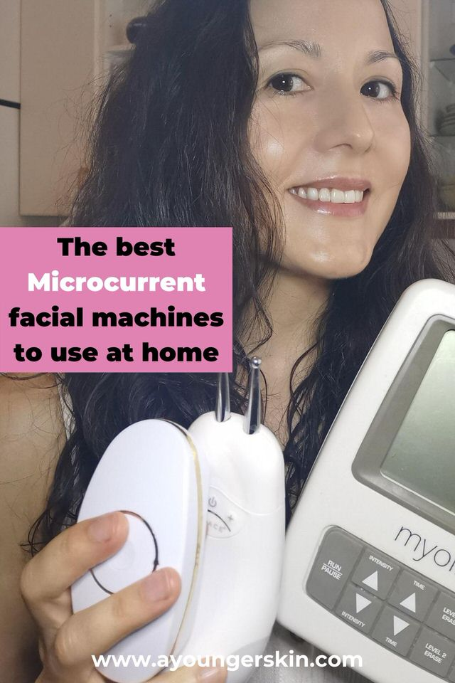 My microcurrent therapy devices I use at home as anti aging facials.