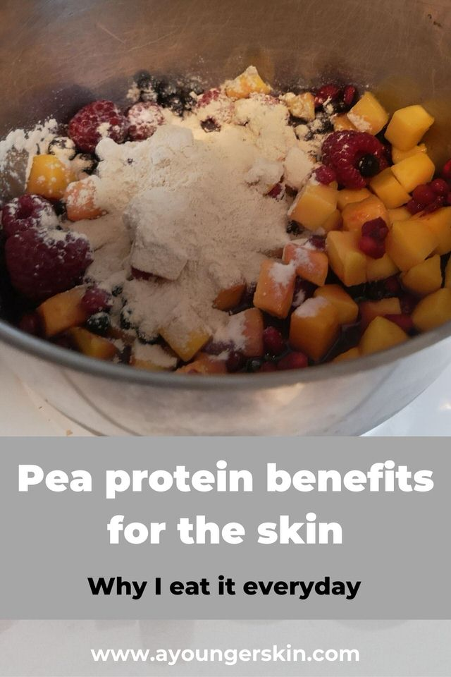 Benefits of pea protein for the skin