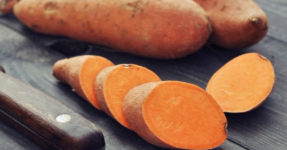 Sweet potatoes are rich in vitamin C, magnesium, and carotenoids. Which all help with boosting hyaluronic acid production.