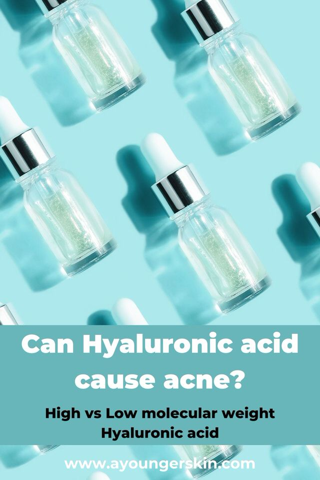Can Hyaluronic acid cause acne breakouts - learn about hig vs low molecular hyaluronic acid