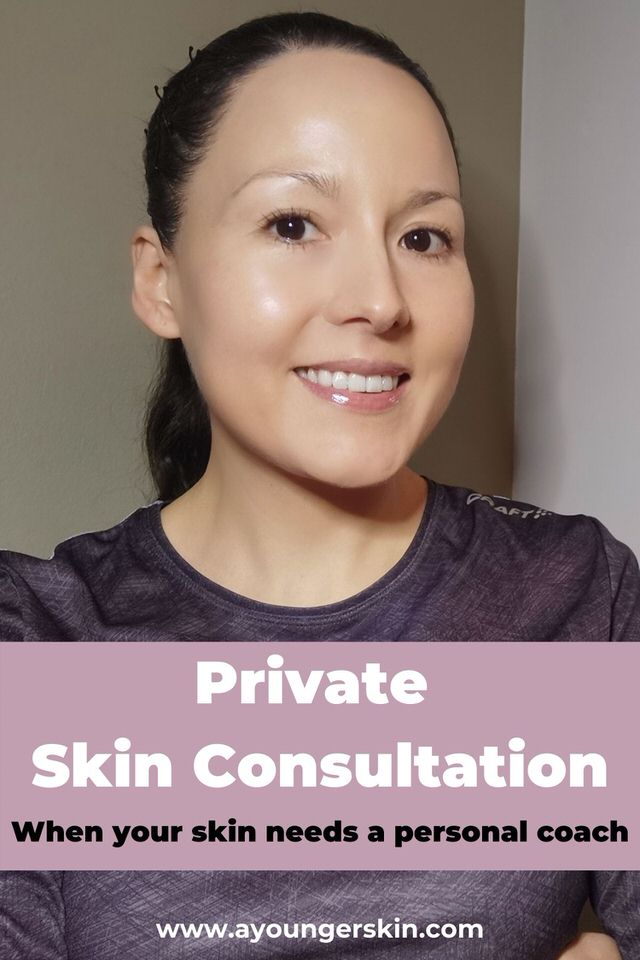 Skin consultation with the founder of A Younger skin. If you want a personal trainer for your improving your skin.